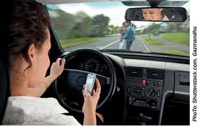 Distracted Driver On Cellphone
